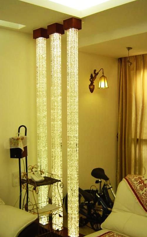 Art n glass stack glass for Pillar in living room